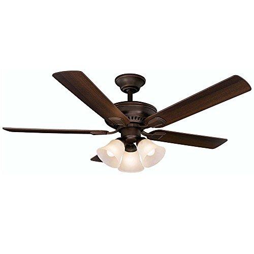 (Hampton Bay 41350 Campbell 52 in. Mediterranean Bronze Ceiling Fan )