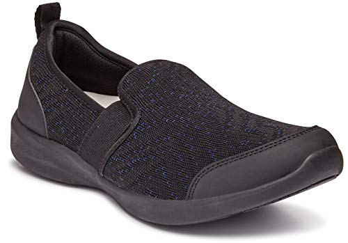 (Vionic Women's Sky Roza Slip-on - Ladies Walking Shoes with Concealed Orthotic Arch Support Black 6 W US)