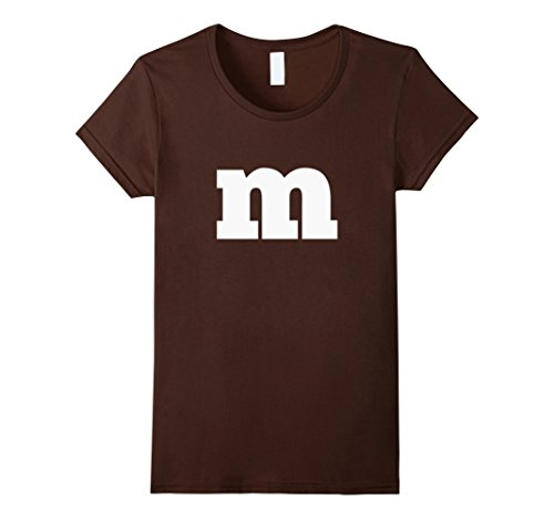 Womens M Candy Easy Simple Halloween Costume T-shirt Medium Brown