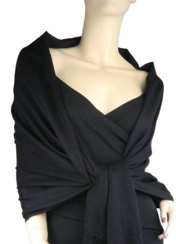 Pashmina / Silk Wrap Black