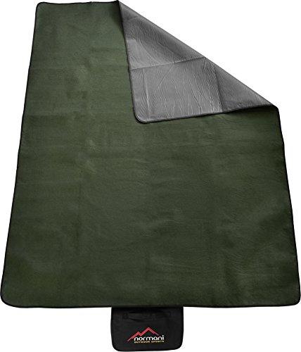 Outdoor Campingdecke Fleece mit Tragegriff wasserdicht isoliert Farbe Oliv