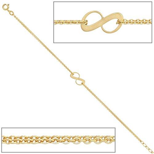 Bracelet rundankerkette, deux rangées 375 old femme-or 19 cm