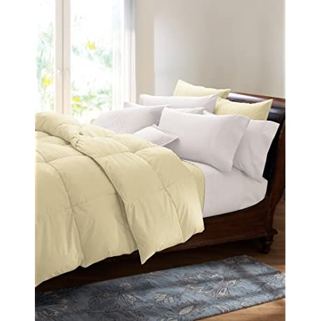 Cuddledown 400TC Colored Down Comforter Twin Summer Lemon