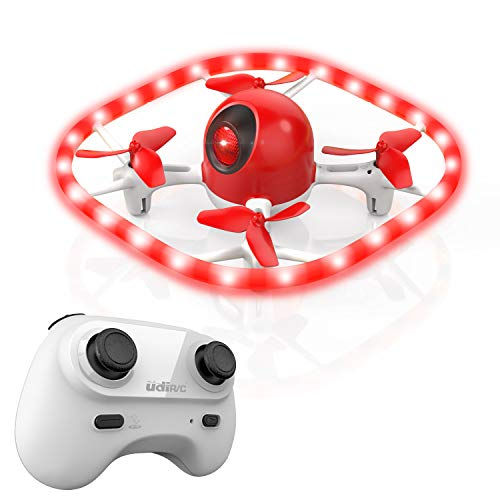 Drones for Kids,SANROCK Colorful LED Lights Drone, U51 Hovering Quadcopter Headless Mode Helicopter for Beginners, 2.4Ghz 6-Gyro 4 Channel Remote Control RTF, RC Toy for Kids Boys Girls Gifts
