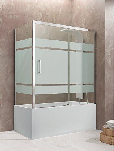 Pare bañera Aktual Frost Plus Acceso de cara con 2 paneles como un deslizante y un retorno fijo lateral. Altura 150 cm). Cristal 8 mm de grosor: Amazon.es: Bricolaje ...