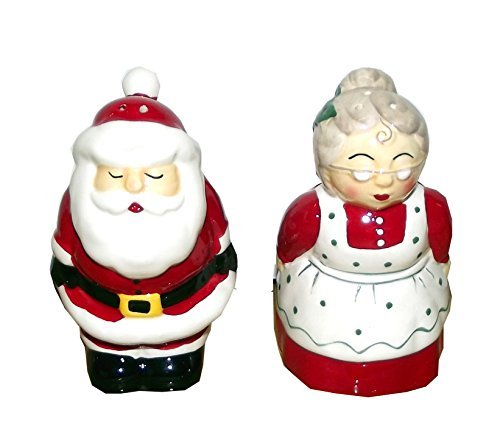 Ganz Mr. and Mrs. Claus Christmas Salt and Pepper Shaker Set