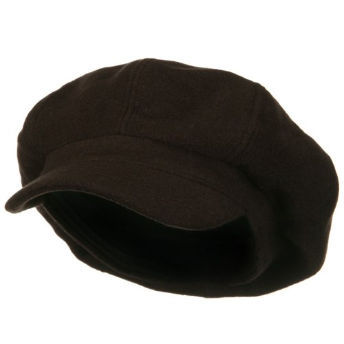 E4hats Wool Cap (Big Size Classic Wool Newsboy Cap - Brown XL-2XL)