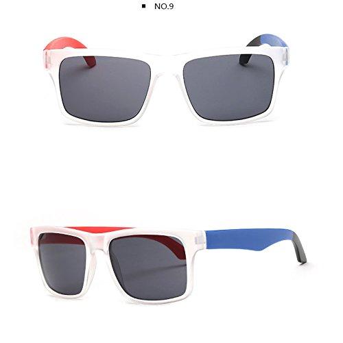 TL-Sunglasses Occhiali da sole piazze uomini Occhiali a specchio donne,TT901 C6