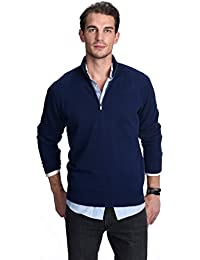 "<span class=""a-offscreen"">[Sponsored]</span>Men's 100% Pure Cashmere Pullover Half Zip Mock Neck Sweater"