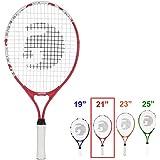 Gamma Sports Junior Tennis Racquet: Quick Kids 25 Inch Tennis Racket - Prestrung Youth Tennis Racquets for Boys and Girls