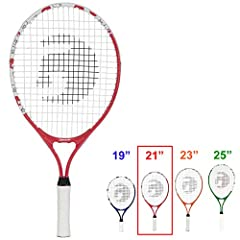 JR TENNIS RACKET  Help your aspiring tennis player get into the game with a Gamma Quick Kids Jr. 21 tennis racquet. This junior racquet is perfectly suited for young athletes playing 10 and under and tennis 10's formats where the focus is gai...
