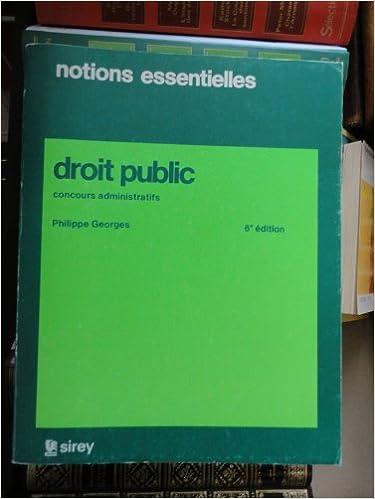 Pdf ebooks finder télécharger Notions essentielles de droit public concours administratifs catégorie a PDF RTF DJVU B0000DX01X