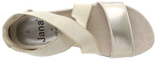 Jana Femme Sandales Or Gold Bride Comb arrière 28101 rx6qwrngv
