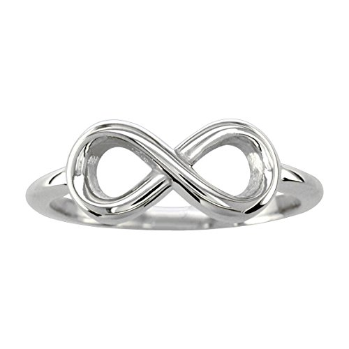 Small Flowing Infinity Ring in 14K White Gold size 6