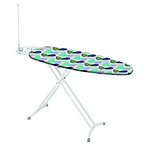 Rayen 6238 - Tabla de planchar con enchufe y cable, con reposaplanchas, altura regulable, 120 x 40 cm, multicolor