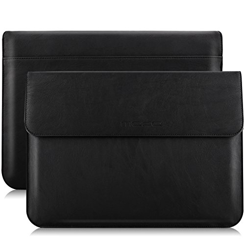 "MoKo 13.3"" Protective Sleeve Bag,  PU Leather Laptop Tablet"