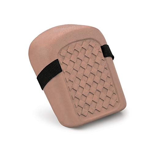 Molded Natural Rubber Knee Pads - Allegro Industries 7101 Standard Knee Pad, One Size, Brick