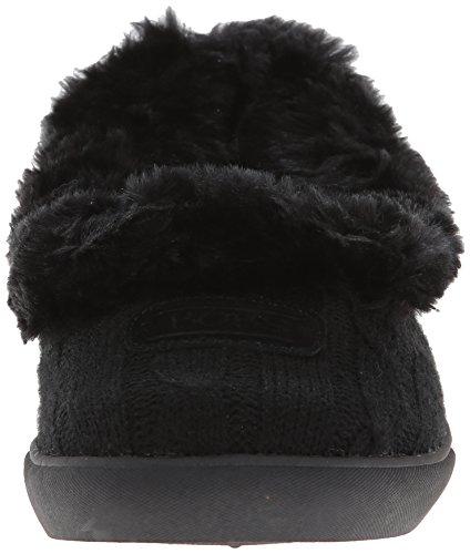 Skechers Mad Crush Snuggle In - Zapatillas de Estar Por Casa de otras pieles mujer Black Knit