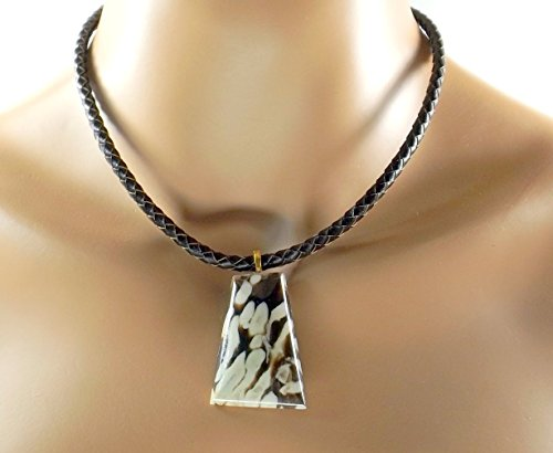 Edge Fine Trendy (Peanut Wood, Ancient Petrified Wood, Rare, Pendant Unisex Choker - r)
