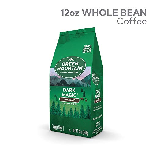 Green Mountain Coffee Dark Magic, Whole Bean Coffee, Dark Roast, Bagged 12oz. ()