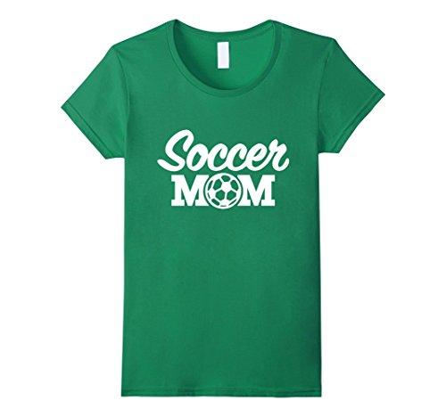 Womens Soccer Mom T-shirt Proud Soccer Mom I Love Soccer Tee Medium Kelly Green