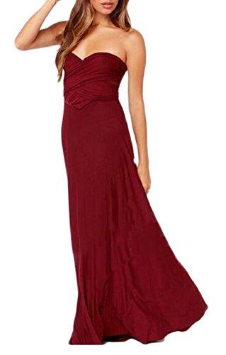 Halter Bandages Red Backless Party Sleeveless Criss Maxi Cross Womens Evening Wine Jaycargogo Dress 1wqE75