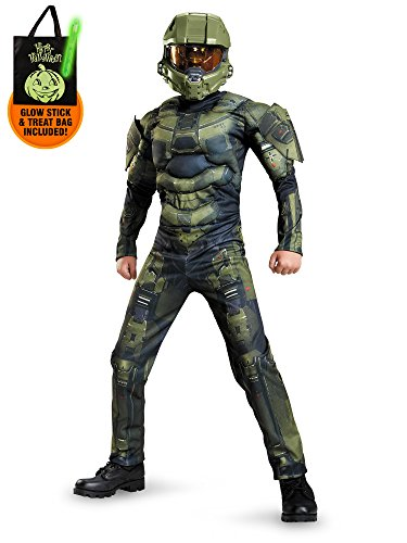 [Halo Master Chief Classic Muscle Chest Costume Boys for Kids Treat Safety Kit-M] (Master Chief Childs Costumes Kit Halo)