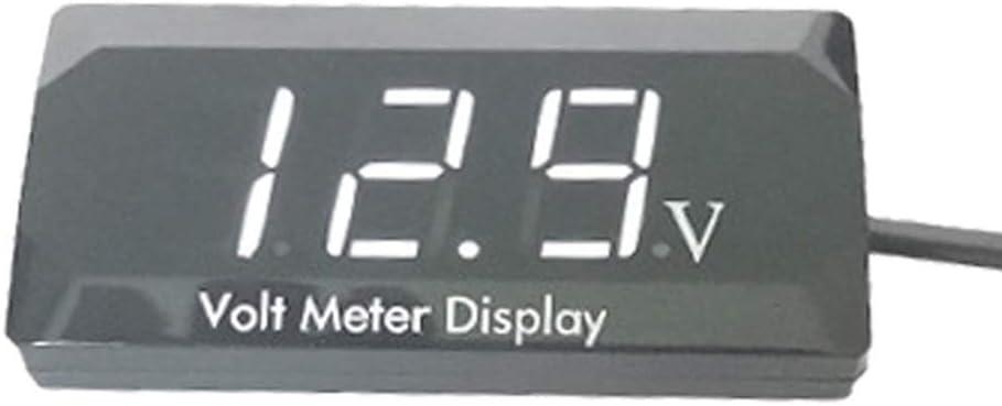 Fishyu Car Digital Display Voltmeter Waterproof Direct Current 12V Voltage Volt Meter Gauge for Vehicle Motorcycle