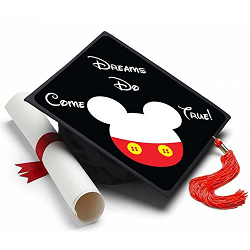 (Tassel Toppers Mickey Mouse Grad Cap Decorated Grad)
