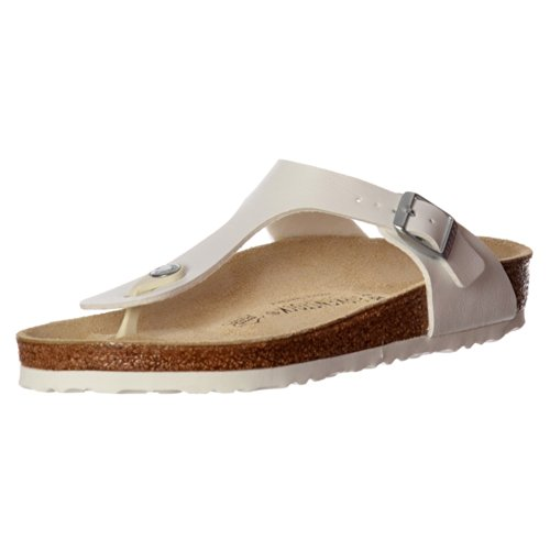 - Birkenstock Classic Gizeh BirkoFlor -Standard Fitting Buckled Toe Post Thong Style - Flip Flop Sandal UK5 - EU38 - US7 - AU6 White