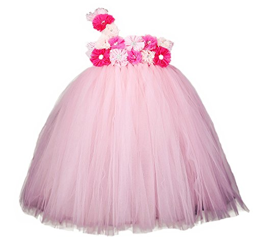 Pink Flower Toddler Costumes (Tutu Dreams Pink Toddler Girls' Costumes for Birthday Party (S, pink))