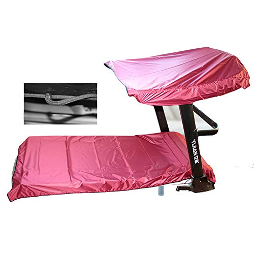(QEES Treadmill Cover, 2 Set Folding Running Machine Protective Cover, Universal Dustproof Cover and Waterproof Fitness Equipment Fabric Ideal for Indoor Or Outdoor use (Pink))