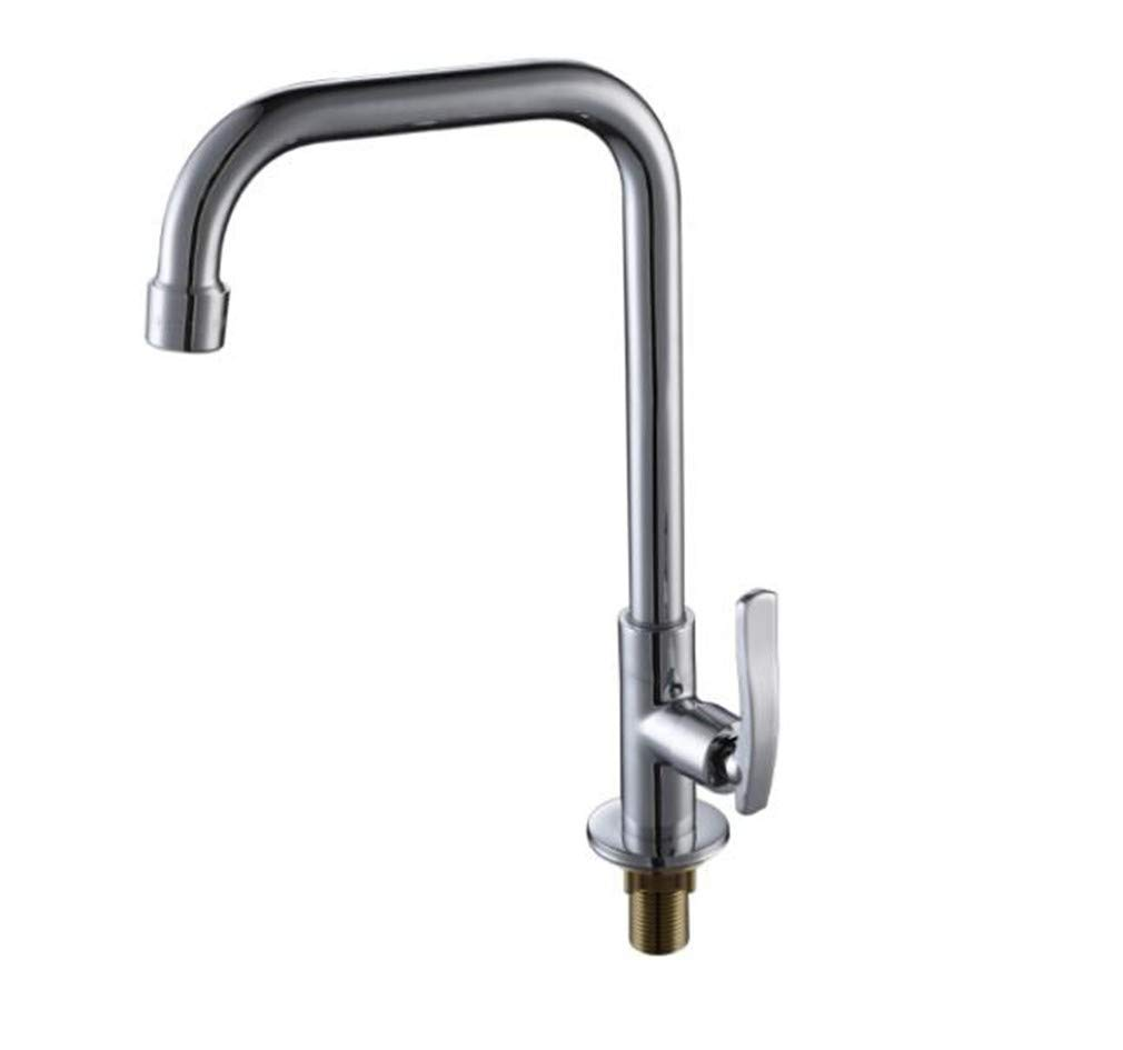 Bathroom Sink Basin Lever Mixer Tap Bathroom Copper Kitchen Faucet Single Cold 7 Character Big Bend Vegetable Washing Basin Faucet