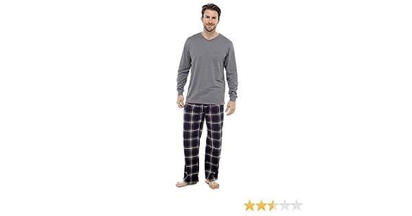 Clothing Unit Conjunto Pijama algodón Hombres Ropa de Loisirs Cepillado Cuadros Franela Invierno Cálido Suéter Pjs - Negro/Gris Medium: Amazon.es: Ropa y ...