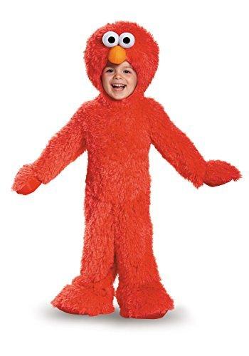 [Extra Deluxe Elmo Plush Baby Infant Costume - Baby 6-12] (Elmo Plush Jumpsuit Infant & Toddler Costumes)