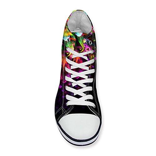 Per Te Disegni Scarpe Alte In Tela Floreale Per Donna Stringate Leggere Sneakers Da Donna Floreali 3