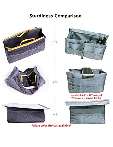 Dahlia Patented STURDY Handbag Purse Organizer Insert - 21 Components Black by Dahlia (Image #3)
