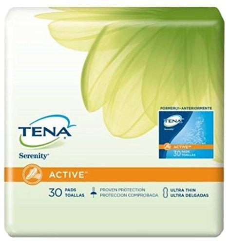Serenity Driactive Slender Pads - Tena-SERENITY DriActive Slender Pads - Ultra Thin, Full Case of 180 Pads (217-0348) by Tena Slip