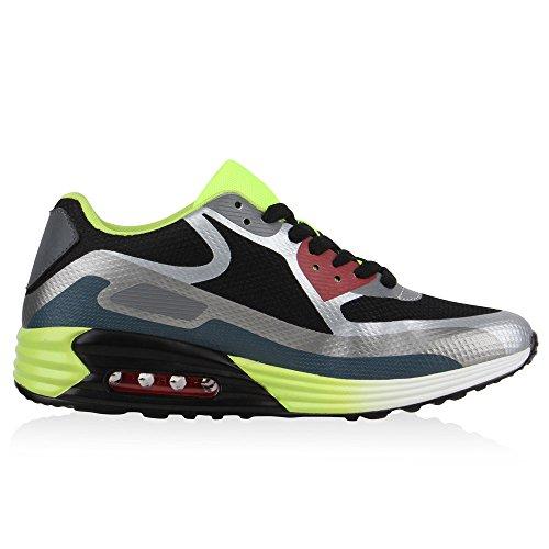 Herren Damen Sportschuhe Laufschuhe Runners Sneakers Prints Flandell Schwarz Neongrün Brooklyn