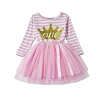 Shinny Stripe Baby Girl Sleeveless Printed Tutu Dress