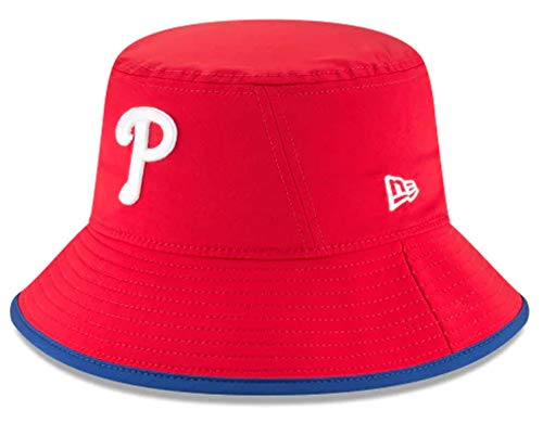 (New Era Authentic MLB 2019 Clubhouse Collection Bucket Hat Stretch Fit : One Size Fit Most (Philadelphia Phillies))