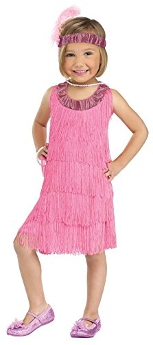 Fun World Costumes Baby Girl's Flapper Toddler Costume, Pink, Large 3T-4T