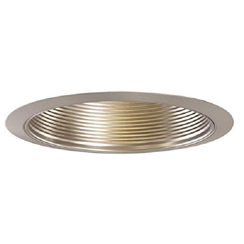 Halo Recessed 353SN-6PK Trim Metal Baffle Satin Nickel Trim with Satin Nickel Baffle, 6''