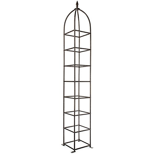 H Potter Trellis Obelisk for Climbing Garden Plants Weather Resistant Iron and Metal Vertical Yard Art GAR470