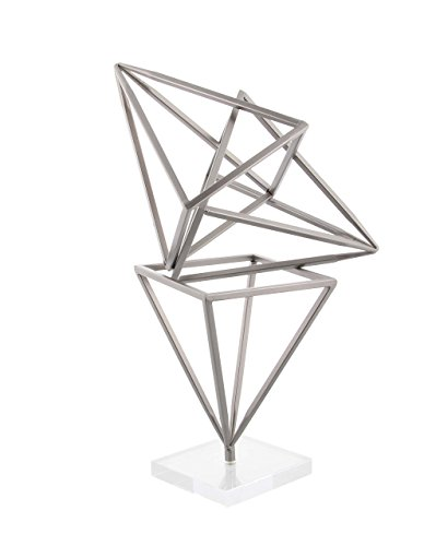Deco 79 56942 Iron and Acrylic Prism Sculpture, 18