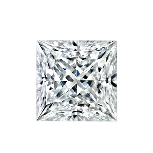 5.5MM Princess Cut Forever Classic Moissanite by Charles & Colvard - Very Good Cut (0.83ct Actual Weight, 0.90ct. Diamond Equivalent Weight) by Charles & Colvard
