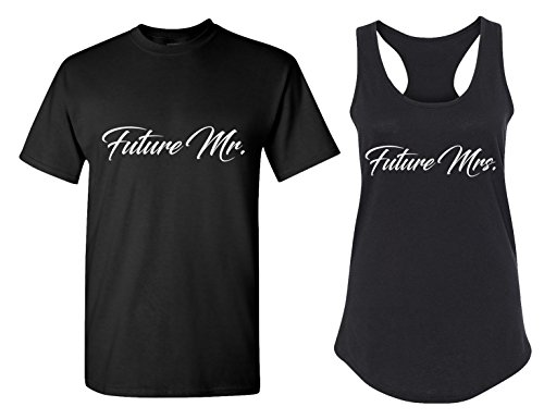 Couples Apparel Future Mr. and Future Mrs. Matching Bachelorette Party T Shirts - Bridal Tank Tops]()