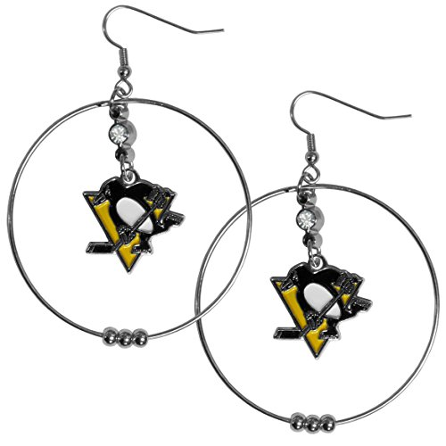 - Siskiyou NHL Chicago Blackhawks 2 inch Hoop Earrings