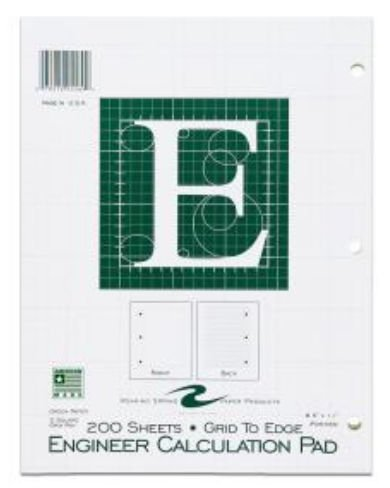 Roaring Spring Paper Products 95589 Engineering Pad - 24 Per Case