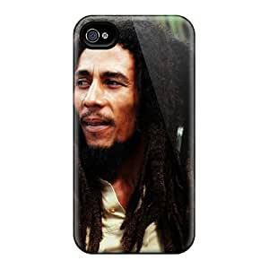 Shock Absorption Hard Phone Case For Iphone 4/4s With Support Your Personal Customized Fashion Bob Marley Skin AlainTanielian